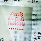 """poemari """"escrits en tinta invisible"""""""