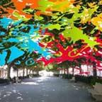 Aquarel·la i cal·ligrafia a la Fira del Dibuix i la Pintura de Portbou