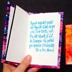 Llibre poema dedicat, fet a mida a Llibres Artesans